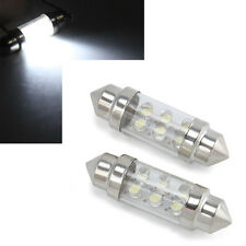 2X 36mm 6 LED White Car Festoon Interior Dome C5W Lamp Bulb License plate lights