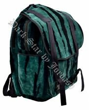 Jordash Large Tie Dye Green & Black Velvet Rucksack  Back Pack Bag Travel Bag