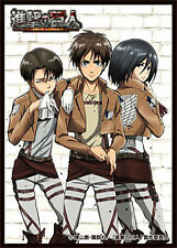 Attack on Titan 50 TCG Card Sleeves *Erin Levi Mikasa* ~Anime Shingeki no Kyojin