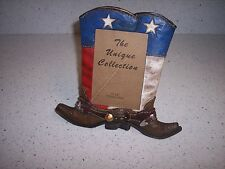 The Unique Collection Frame 4 X 6 Photo Western Boots Decorated W/ Buckle Stars