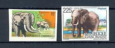 FRANCE COLONY  GABON 2 x ST  IMPERF  ** MNH  ELEPHANT