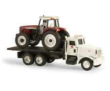 1/64 ERTL PETERBILT ROLL-BACK WITH MASSEY FERGUSON 8270 TRACTOR