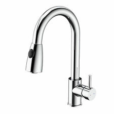 Caroma HUSK SINK MIXER Pull-out Spout Push On Button CHROME *Australian Brand