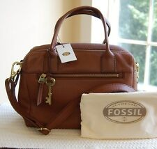 NWT Fossil Leather Erin Satchel Brown ZB5887200 Dustbag
