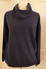 Lovely Magaschoni Navy Blue Cashmere Cowl Neck Sweater – Small - NWT  $328