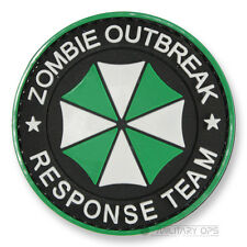 VINYL MORALE PATCH VELCRO PANEL RUBBER ZOMBIE OUTBREAK RESPONSE TEAM UMBRELLA