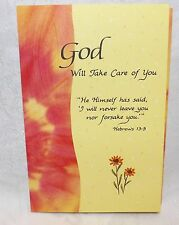 """Blue Mountain Card God Will Take Care Of You """"I Will Never Leave You"""""""