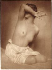 1920's Vintage Swedish Female Nude Model Schencker Art Deco Photo Gravure Print