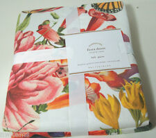 Pottery Barn Floral Flowers Butterfly Flora Cotton Full Queen Duvet Cover Shams