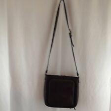 Fossil Dark Brown Pebbled Leather Crossbody Shoulder Bag Handbag Purse
