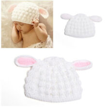Baby Animal  Rabbit Bunny Photography Prop Crochet Knitted Wool Hat Cap 0-12M