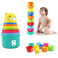 Baby Kids Educational Toys Quick Speed Stacker Cups Fast Stacking Stacks Game
