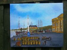 Greenock Custom House, Steam Clipper 60 x 50 cm Original Acrylic Painting/Canvas