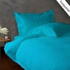 1000 THREAD COUNT 100% EGYPTIAN COTTON QUEEN TURQUOISE SOLID BED SHEET SET