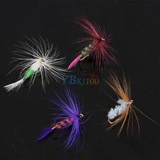 12Pcs Fly Fishing Flies Bass Trout Dry Floating Lures Baits Tackle With Hook BT