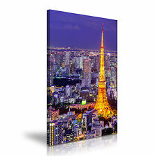 Grandi TOKYO GIAPPONE skyline tela WALL ART PICTURE PRINT A1 50x76cm OFFERTA SPECIALE