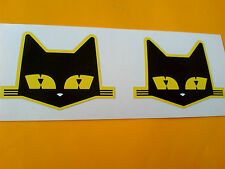 SEV MARCHAL Cat Retro Vintage Car Stickers Decals 2 off 54mm