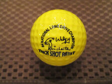 PING GOLF BALL-SOLID YELLOW PING #1...9.5/10.....WITH TRICK SHOT ARTIST LOGO..