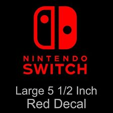 """Nintendo Switch Large 5 1/2"""" Red Decal Sticker - Free Shipping!"""