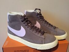 Womens Nike Suede Blazer Mid Trainers Grey Violet Uk Size 4.5 Rrp £70