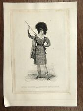 Antique Print 1828 Miss Foote as Moggy McGilpin GRAVURE ACTRICE ANGLAISE Actress