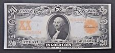 Fr. 1186 1906 $20 Gold Certificate US Currency Paper Money Note Bill