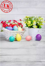 KIDS EASTER EGG WHITE WOOD BACKDROP BACKGROUND VINYL PHOTO PROP 5X7FT 150x220CM