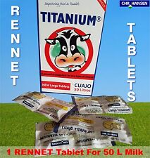 1 RENNET TABLETS TITANIUM VEGETARIAN COAGULANT FOR ANY CHEESE MAKING ONE TABLET