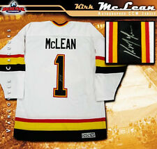 KIRK McLEAN Signed Vancouver Canucks Retro White CCM Jersey