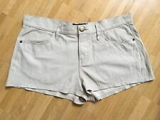 Orig. CURRENT ELLIOTT Leder Short Jeans beige Safari Gr.28 NEU NP 649€
