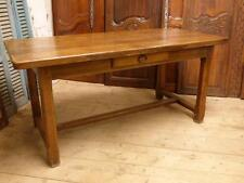 ANTIQUE OAK FRENCH DINING TABLE - HEAVY SOLID EXAMPLE - GREAT PIECE - cv36