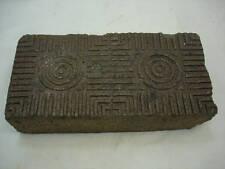 Antique Brick Paver Glazed Sidewalk Brick Central Il Garden Door Stop Brown Clay