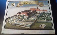 """Kupferstich von Michael Wening 1723 """"Franciscaner Closter in Alten Oetting"""""""