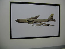 Boeing B 52 Bomber Stratofortress  Model Airplane Box Top Art Color artist