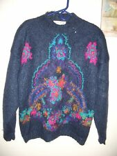 VINTAGE STUDIO MICHELLE STEWART MEDIUM M MOHAIR BLEND MOCK TURTLE NECK  SWEATER