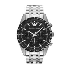 Emporio Armani Sportivo Watch Black/Silver Quartz Analog Men's Watch AR5988
