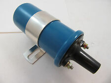 12V Electronic Round Oil Filled Round Canister Ignition Coil Blue 45,000 Volts