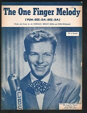 The One Finger Melody 1950 Frank Sinatra Cover 2 Sheet Music