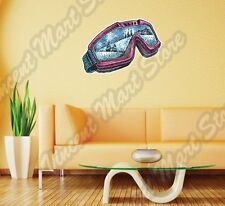 "Ski Snowboard Snowboarding Snow Goggles Wall Sticker Room Interior Decor 25""X18"""