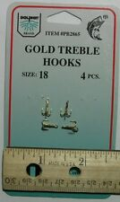 DOLPHIN Gold Treble Hook Size 18 Qty(4) PB2865