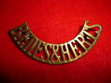 """""""Bedfs & Herts"""" Brass Shoulder Title Badge, Westlake 904"""