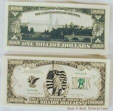 WHOLESALE LOT OF - 100 BILLION - DOLLAR NOVELTY BILLS