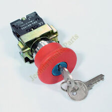 Key EMT Red Emergency Stop Mushroom Push button Switch ZB2-BE102C