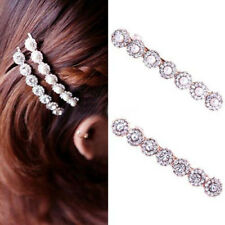 Flower Hairpin Delicate Crystal Head Ornaments Pearl Diamond Spring Clip Hairpin