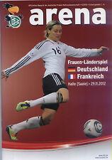Frauen-Länderspiel 29.11.2012 Deutschland - Frankreich, DFB-Arena 5/2012, Halle