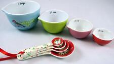 Measure Up Bird Colorful Ceramic Measuring Cups and Spoons NEW