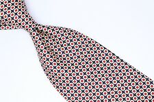 Polo Ralph Lauren Silk Neck Tie Red White Blue Mini Polka Dot Print Dotted Dots