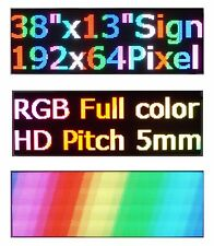 """38""""x 12"""" RGB Full Color P5 LED Sign Programmable Scrolling Message Display"""