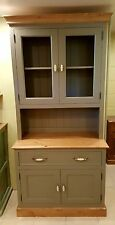 Portes en verre peint cuisine en pin commode unité/made to measure farrow and ball