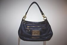 Coach Poppy Metallic Sapphire Blue Leather Detachable Strap Shoulder Bag, Nice